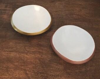 Rose Gold Ring Dish, Jewelry Dish,  Engagement Ring Dish, Jewelry Dish, Gift