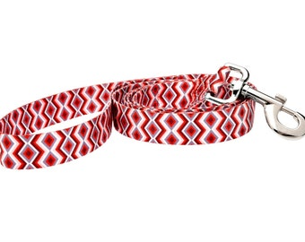 Ravishing Red Poppy Fashion Dog Leash - 5ft. Made From Recycled Webbing