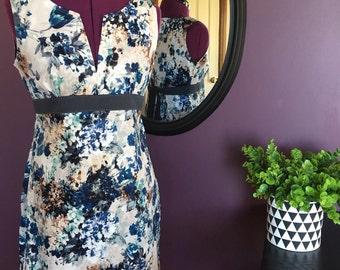 Spring Blue Floral Jacky Dress