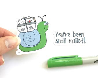 Snail Mail Sticker Set