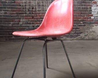 SOLD Mid century modern shell chair eames fiberglass chair mid century desk chair