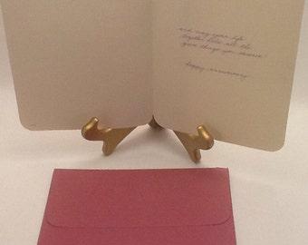 Vintage wedding anniversary card etsy