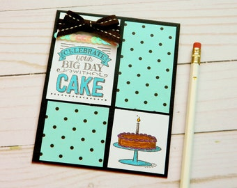 Girlfriend Bday Card - Card She Birthday - Happy Birthday Cards - Birthday Cake - Greetings Card Her - Stampin Up Cards