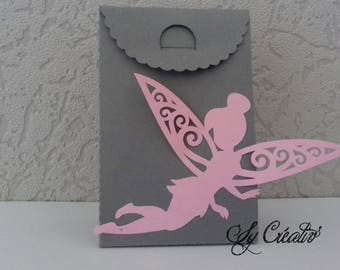 """5 boxes DRAGÉES baptism """"fairy princess"""" - choice of color / invitations, menu, party"""