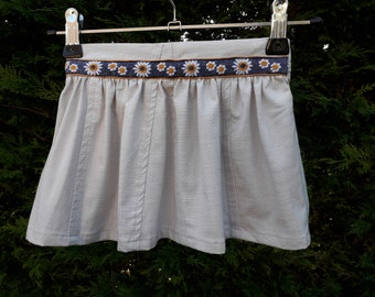 Little girl skirt - 2 years - recycled linen - hand made