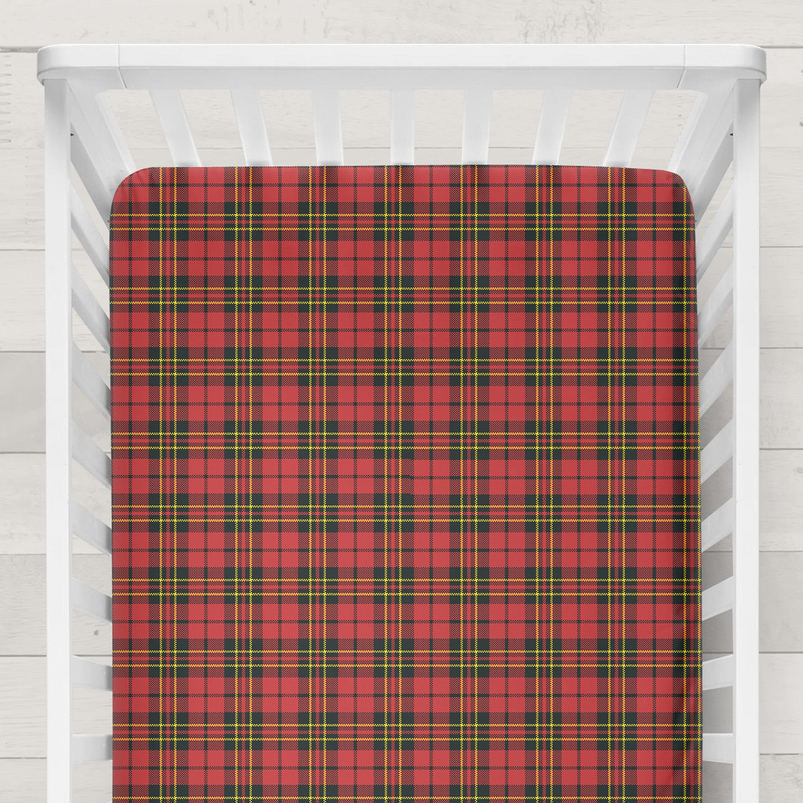 crib cribs bedding decoration set and lambs piece ivy regatta red blue plaid baby white
