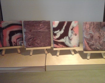 Set of (4) Ceramic Tile Coasters