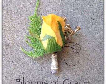 Groom boutonniere, whimsical.