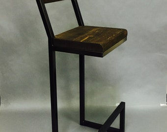 "Bar stools Custom 34"" to 36"" with back rest. Metal bar stools. Wood bar stools. Back rest. Backrest. Bar stool with back rest"