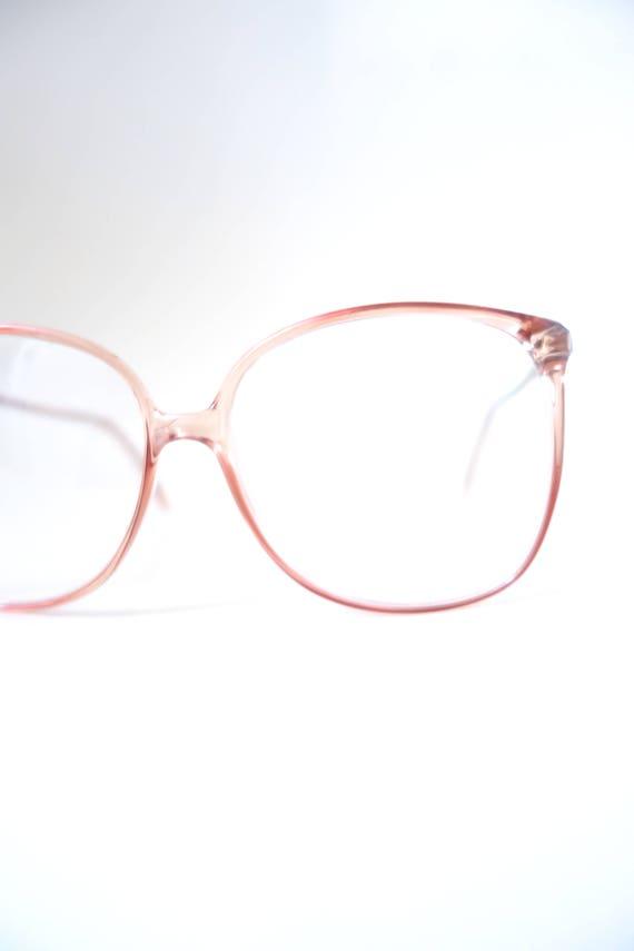 1980er Jahre klar übergroße Brille französische Brillen