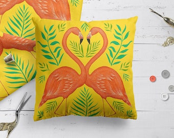 Flamingos cushion