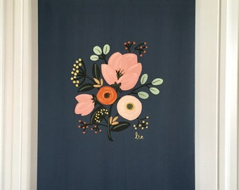Floral Canvas Art original botanical art flower painting