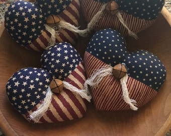 Patriotic Heart Bowl Filler