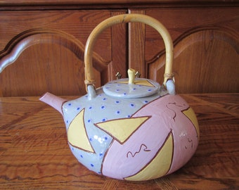 1987 Handmade Pottery Tea Pot signed and dated
