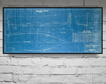 Print of vintage columbia boat blueprint from motor print of vintage v bottom boat blueprint from motor boatings build a boat series on your choice of matte paper photo paper or canvas malvernweather Image collections