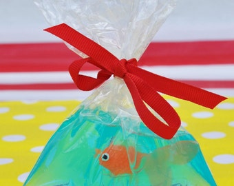 Carnival Party Favor: Fish In A Bag Soaps - Circus Favor, Carnival Party Supplies