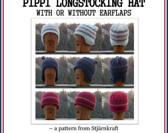 PATTERN – Knit A Pippi Longstocking Style Hat – Instant Download PDF