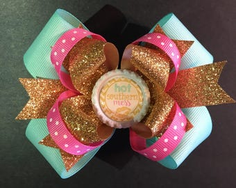 Hot Southern Mess Hairbow