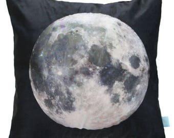 Moon Pillow, Moon Cushion, Space Theme Kids, Moon Decorative Pillow, Pillow Cover Moon, Kids Moon Pillow, Kids Space Bedding, Space Boy Room