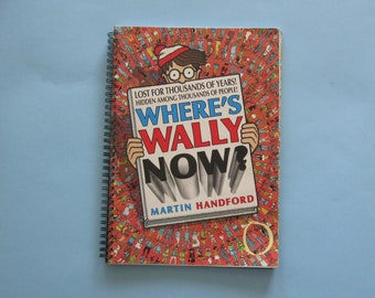 Wheres Wally notebook - comic book journal - repurposed planner