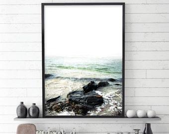 Coastal Print, Coastal, Ocean, Sea, Sand, Photography, Scandinavian, Poster, Nautical, Minimalist, Coast, Tasmania, Beach, Coastal Decor