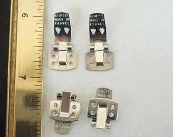 6 Bluettes Square Shoe Clips (3 pairs) - Nickel Free