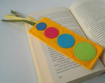Yellow Felt Bookmark