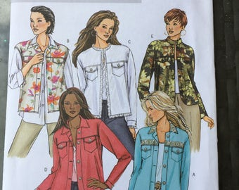 UNCUT Butterick women's jacket pattern B4741 Petite size BB vests also unlined jacket with variations