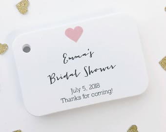 Bridal Shower Thank you Tags, Bridal Shower Favor Tags, Small Shower Favor Tags (RR-031-H)