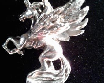 Argent sterling charme de Pegasus 3D