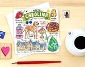 North Carolina notecard. Single or Pack of 4.