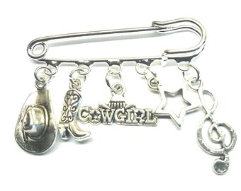 Line dancing keyring~country & western gift~country dancing~cowboy themed gifts~cowgirl gift