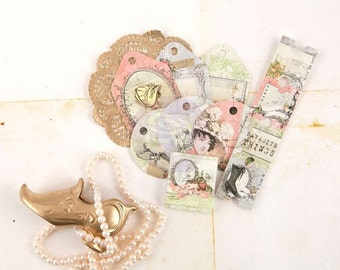 Prima Debutante Collection Tag Me Ticket And Tag Set Prima New Release Scrapbook Embellishment
