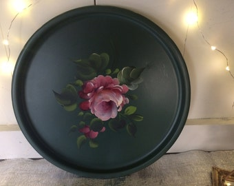 "11"" Hand painted Vintage Tray"