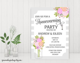 Housewarming Party Invitations, New Home Party Invitations, Open House Invitations, Home Sweet Home Invitations, Welcome Home Party, H32002