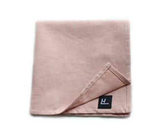Light Pink Pocket Square, Pocket Square, Handmade Pocket Square, Mens Pocket Square, Men's Accessories, Cotton Pocket Square