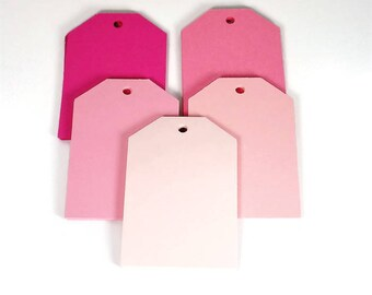 Large Paper Gift Tags in Pink Pop Set of 50