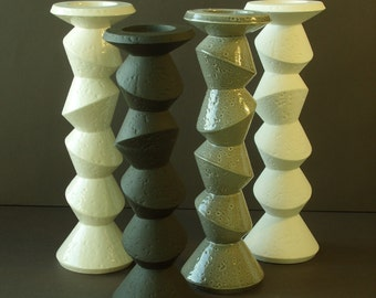 Sculptural ceramic candle holder.
