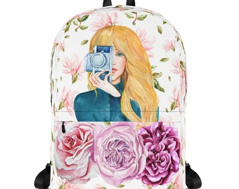 Floral Photographer Backpack