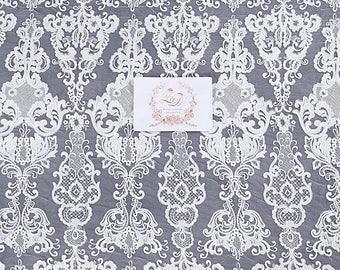 Elegent Lace Fabric, Fashion Dress Fabric, Guipure Lace Farbic, Tulle Bridal Lace, Guipure French Lace Fabri For Wedding Dress