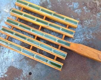 Tile Trivet with Wooden Frame 1960's