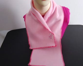 Breast Cancer Neck Warmer, Cowl Scarf with Velvro Fastener