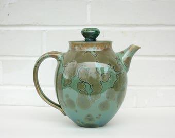 Emerald Crystalline Teapot