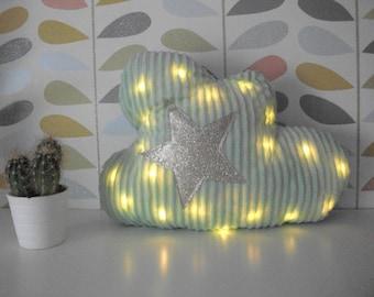 Bright Cloud shaped cushion