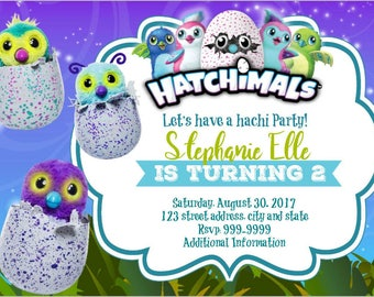 Hatchimals Birthday Party Invitation, Hatchimals Birthday Invitation, Hatchimal Party Supplies, Hatchimal Invitation, Hatchimals party