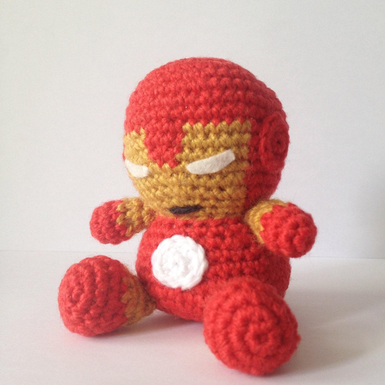 IRONMAN Amigurumi Pattern SuperHero Avengers Marvel Easy DIY