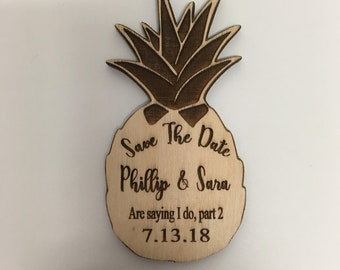 Pineapple Save The Date Magnet, Save The Date, Save The Date Magnet, Personalized Save The Date Magnet, Wedding Invitation