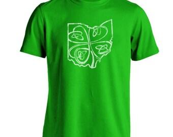 Ohio Shamrock Irish St Patricks Day Ireland Dublin Basic Men's T-Shirt DT0811