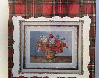 Jean McIntosh Poppy Needlepoint Kit M-152 Wool Threads 22 inches by 29.5 inches/ 55cm by 74cm complete