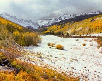 The Sneffles Range - Colorado - San Juan Mountains - Spring in Colorado - Mount Sneffles - San Juan Mountains - Aspen Trees - Quakies